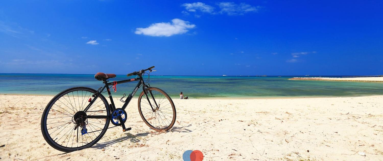 A bike in the beach