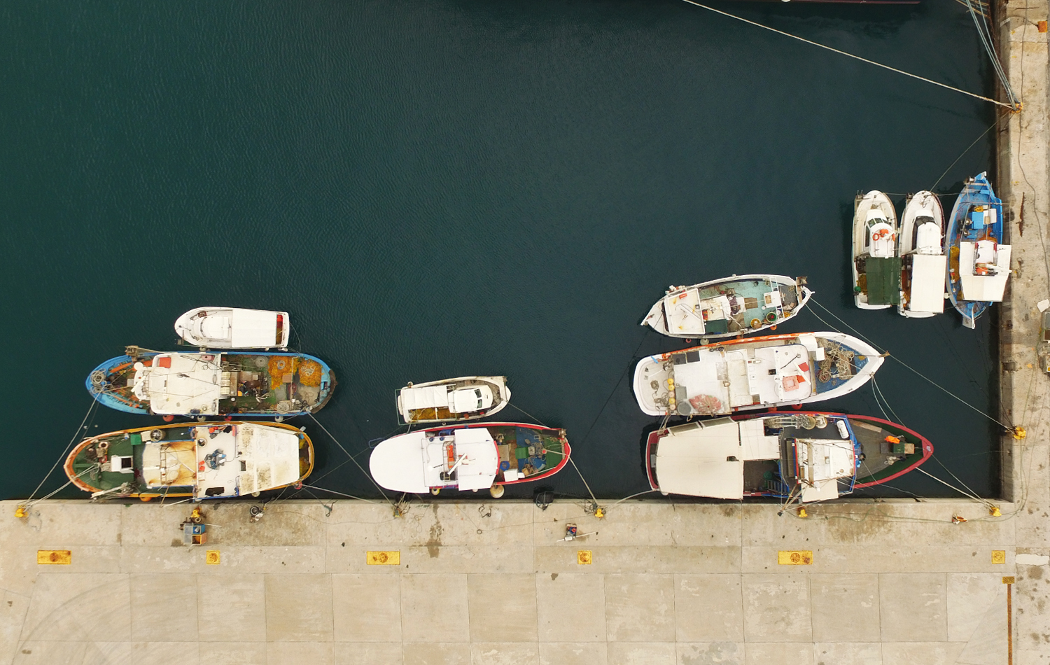 Some boats floating in Kissamos harbour